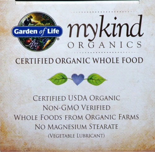 Garden of Life myKind Organics Men's Once Daily Multivitamin Vegan Tablets Perspective: top