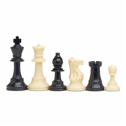 WE Games Complete Tournament Chess Set, Plastic Pieces, Brown Board, Travel Bag Perspective: top