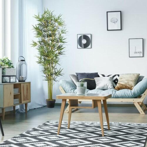 Costway 6 ft Artificial Bamboo Silk Tree Indoor Outdoor Home Office Decorative Planter Perspective: top