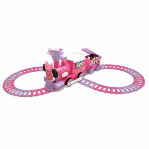 Kiddieland Disney Minnie Mouse Activity Ride On Train Engine and Caboose Toy Perspective: top