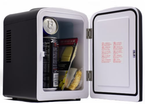 Uber Appliance Mini Fridge 6-can portable refrigerator|cooler/warmer|Bedroom/dorm/RV Perspective: top