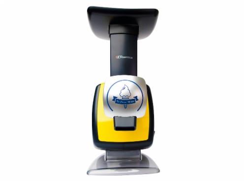 Uber Appliance Sorbet Frozen yogurt maker|soft serve fruit machine|4pc Popsicle mold included Perspective: top