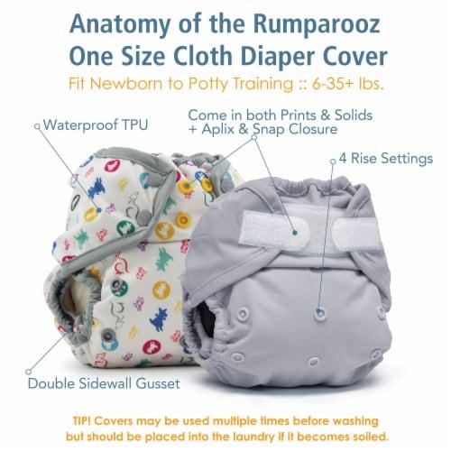 Kanga Care Rumparooz One Size Reusable Cloth Diaper Cover Aplix Phantom 6-35 lbs Perspective: top