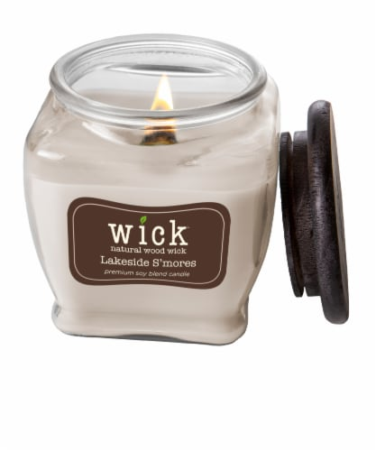 Wick® Lakeside S'mores Jar Candle - Cream Perspective: top
