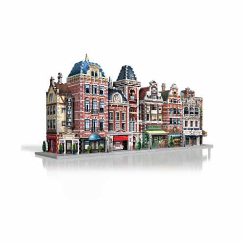 Wrebbit Urbania Collection Fire Station 3D Puzzle Perspective: top