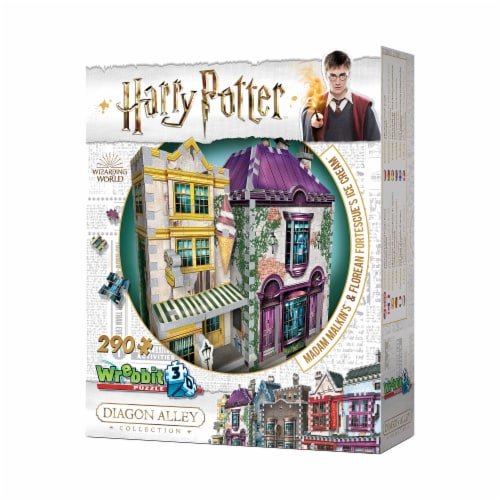 Harry Potter Diagon Alley Collection Madam Malkin's & Florean Fortescue's Ice Cream 3D Puzzle Perspective: top