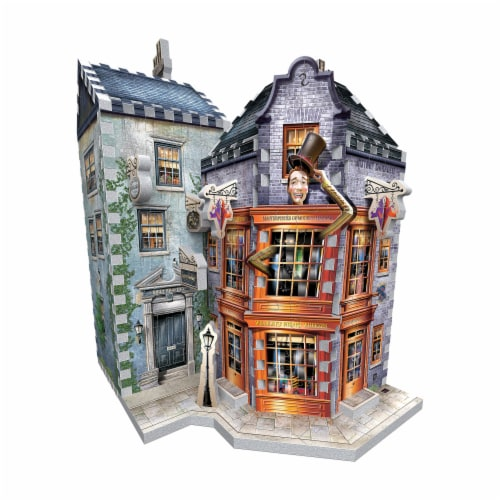 Wrebbit Diagon Alley Collection Weasleys Wizard Wheezes & Daily Prophet 3D Puzzle Perspective: top
