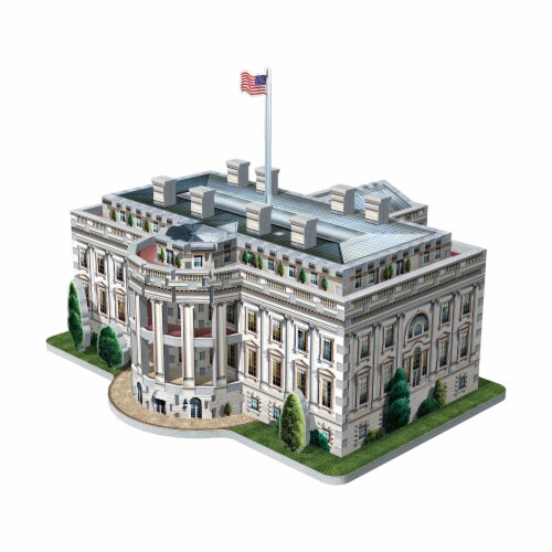Wrebbit The White House 3D Puzzle Perspective: top