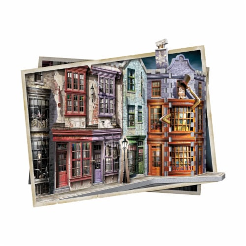 Wrebbit Harry Potter Collection Diagon Alley 3D Puzzle Perspective: top