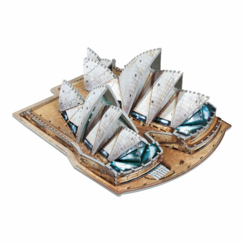 Wrebbit Sydney Opera House 3D Puzzle Perspective: top