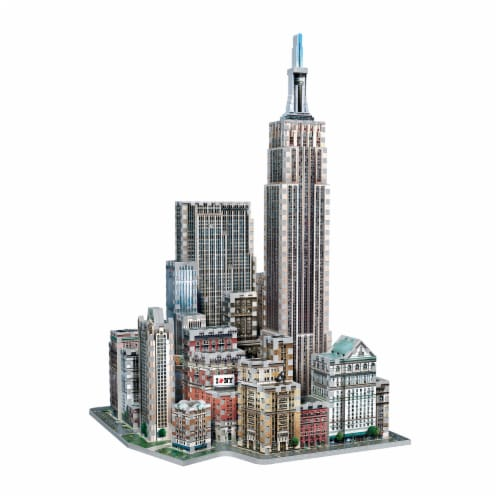 Wrebbit New York Collection Midtown West 3D Puzzle Perspective: top