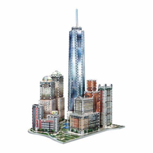 Wrebbit New York Collection World Trade Center 3D Puzzle Perspective: top