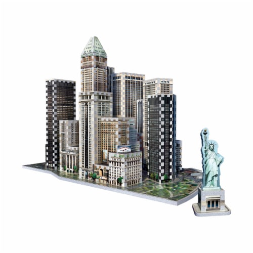 Wrebbit New York Collection Financial 3D Puzzle Perspective: top