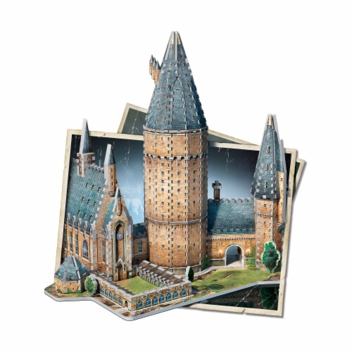 Wrebbit Harry Potter Collection Hogwarts Great Hall 3D Puzzle Perspective: top
