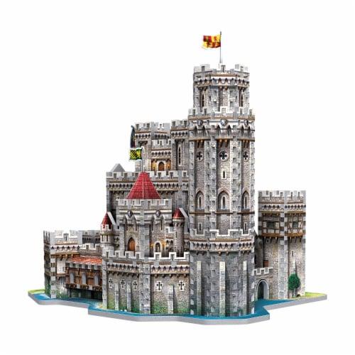 Wrebbit King Arthur Camelot 3D Puzzle Perspective: top