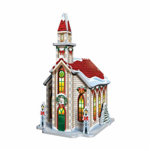 Wrebbit Christmas Village 3D Puzzle Perspective: top