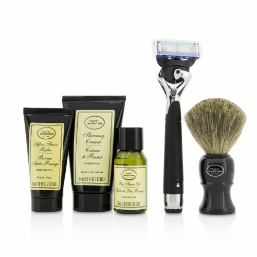 The Art Of Shaving Lexington Collection Power Shave Set: Razor + Brush + Pre Shave Oil + Shav Perspective: top