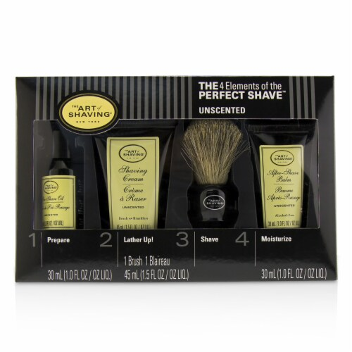 The Art Of Shaving The 4 Elements of the Perfect Shave MidSize Kit  Unscented 4pcs Perspective: top