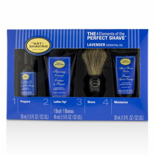 The Art Of Shaving The 4 Elements of the Perfect Shave MidSize Kit  Lavender 4pcs Perspective: top