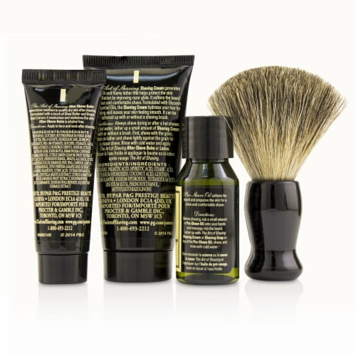 The Art Of Shaving Starter Kit  Unscented: Pre Shave Oil + Shaving Cream + After Shave Balm + Perspective: top