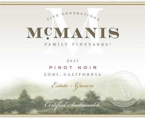 McManis Pinot Noir Red Wine Perspective: top