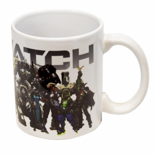 Overwatch Mug | Overwatch Characters and Logo Mug | Collector's Edition Perspective: top