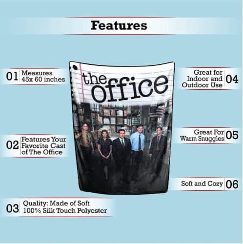 The Office Fleece Softest Throw Blanket Perspective: top