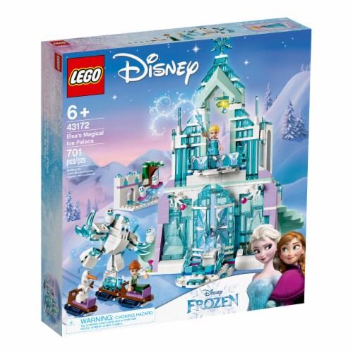 LEGO 43172 Disney Frozen Elsa's Magical Ice Palace Building Kit w/ 4 Minifigures Perspective: top
