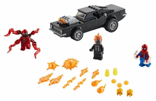 LEGO® Spider-Man and Ghost Rider vs. Carnage Building Set Perspective: top