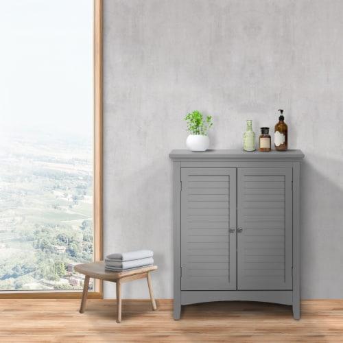 Elegant Home Fashions Bathroom Floor Cabinet & Adjustable Shelves Grey ELG-641 Perspective: top
