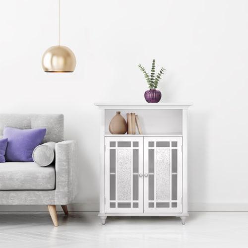 Elegant Home Fashions Wooden Bathroom Floor Cabinet Doors Windsor White ELG-529 Perspective: top