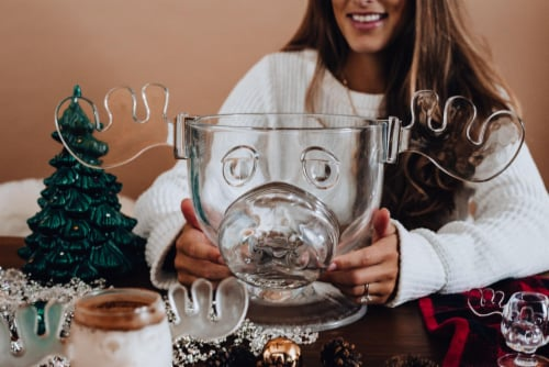 National Lampoon's Christmas Vacation Griswold Moose Punch Bowl | 136 Ounces Perspective: top