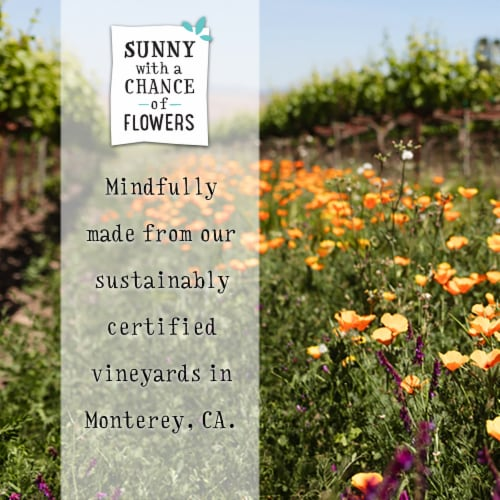 Sunny with a Chance of Flowers Chardonnay White Wine Perspective: top