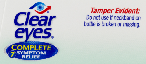 Clear Eyes Complete 7 Symptom Relief Enhanced Formula Eye Drops Perspective: top