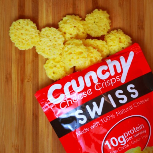 Swiss Crunchy Cheese Crisps, Made with 100% All Natural Cheese, Keto Friendly, Gluten Free. Perspective: top