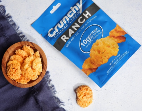 Ranch Crunchy Cheese Crisps, Made with 100% All Natural Cheese, Keto Friendly, Gluten Free Perspective: top
