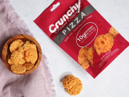 Crunchy Cheese Crisps 10 Pack- Brick Oven Pizza Perspective: top