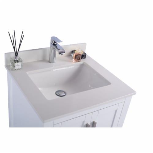 Wilson 24 - White Cabinet + White Quartz Countertop Perspective: top