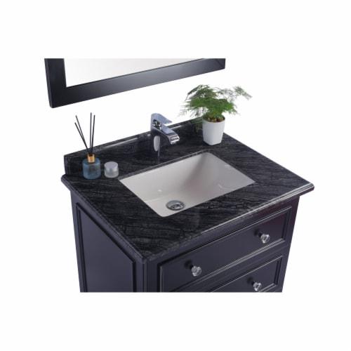 Luna - 30 - Espresso Cabinet + Black Wood Marble Countertop Perspective: top