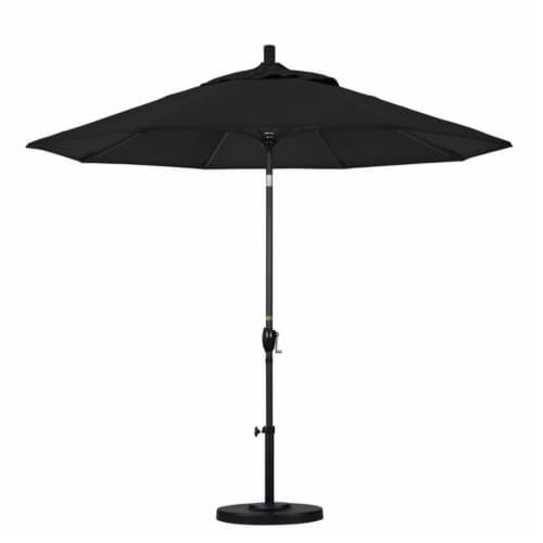 Pemberly Row 9' Patio Umbrella in Black Perspective: top