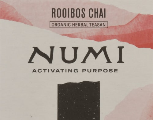 Numi Organic Spiced Rooibos Chai Tea Bags Perspective: top
