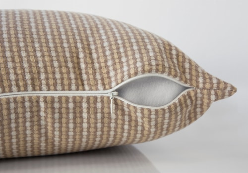 Pillow - 18 X 18  / Light / Dark Taupe Abstract Dot / 1Pc Perspective: top