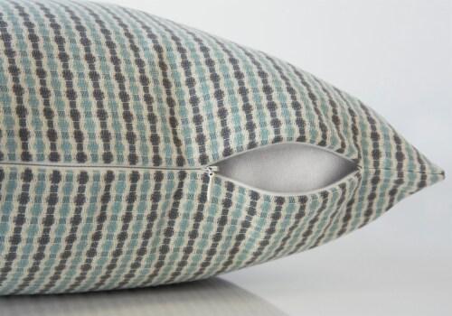 Pillow - 18 X 18  / Light Blue / Grey Abstract Dot / 2Pcs Perspective: top
