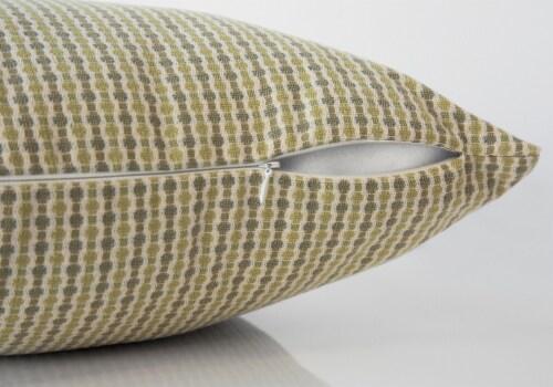 Pillow - 18 X 18  / Light / Dark Green Abstract Dot / 1Pc Perspective: top