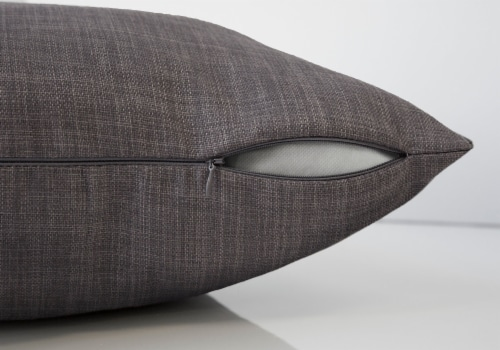 Pillow - 18 X 18  / Linen Patterned Dark Grey / 1Pc Perspective: top