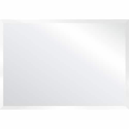 Monarch 42  2-drawer Mirrored Wood Vanity Table with Flip Top in Silver Perspective: top