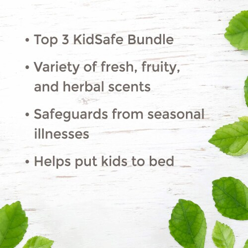 Plant Therapy 10 mL Essential Oil Roll On Blends Set, 1/3 Oz, KidSafe Top 3 Perspective: top