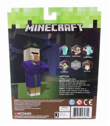 Mojang Minecraft Witch Toy - 3 pc Perspective: top