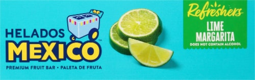 Helados Mexico Refreshers Lime Margarita Paletas Fruit Bars Perspective: top