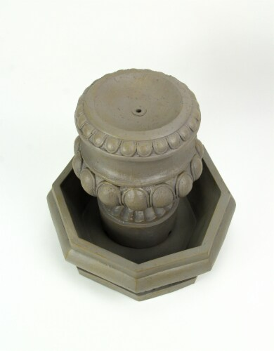 Classic Olive Column Style Tabletop or Garden Fountain With Pump Perspective: top